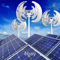10000W 4 Blades 24V Auto Windward Lantern Wind Turbine Generator Vertical Axis
