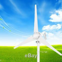 100W 12V Wind Turbine Generators Kit with Charge Controller Boat House Garden US