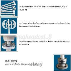 12/24V 5 Blades Lantern Wind Turbine Generator Vertical Axis Home Power Lantern