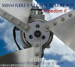 12 Volt 2000 Watt Missouri Falcon Mach 4 80.5 Inch Freedom II Wind Turbine