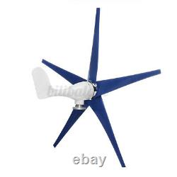 1200W 12/24V 3/5 Blades Wind Turbine Generator Charge Controller Horizontal Home
