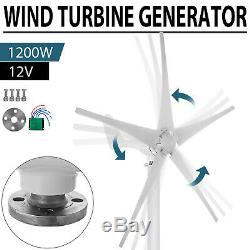 1200W Hybrid Wind Turbine Generator Hybrid Charger Controller Home Power 12V DC