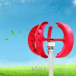 12V 600W 5 Blade Lanterns Wind Turbine Generator Vertical with Controller Set