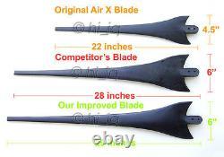 12x 67 Wind Turbine Generator Blades + Hub + Nose Cone 12 socket fit 17mm Shaft