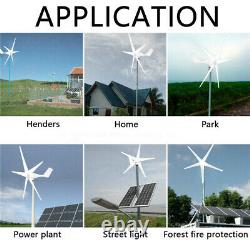 1500W Max Power 5 Blades DC 24V Wind Turbine Generator Kit with Charge Controller