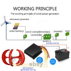 1600W 12V New Energy Lanterns Wind Turbine Generators Vertical Axis Controller