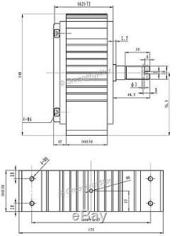 1600W WindZilla + Hub 12V AC Permanent Magnet Alternator Wind Turbine Generator