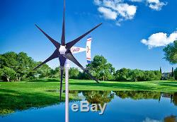 1800 W WindZilla PMA 12 V AC 6 Blade Wind Turbine Generator +225A Slip Ring Hub