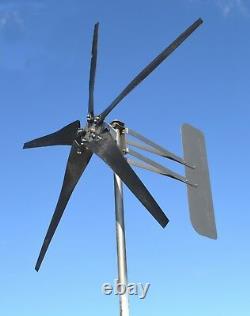 1850 WATT Wind turbine generator 5 Blade MAXCORE PMA 12 VAC 3 ph 7.4 kWh per day