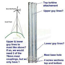 1KWith1000w Wind Turbine 48V Generator Mast Kit Boat UK Stock OffGrid Power Energy