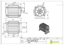 2 Kw 48V Permanent Magnet Generator, Ista Breeze, Savonius, Wind Power