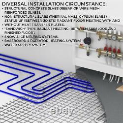 2 Rolls 300ft PEX Tubing O2 Oxygen Barrier Radiant Heat Pex Tubing/Pipe