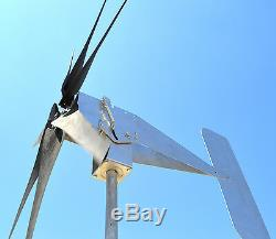 2000 WATT Typhoon 48VAC Tilting Unibody 2.5 Wind Turbine Generator 7KT