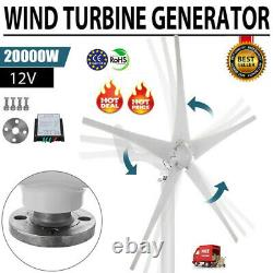 20000W Max Power 5 Blades 12/24V Wind Turbine Generator Kit with Charge Controller