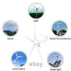 2000W Hybrid Wind Turbine Generator 3/5 Blades DC 12/24V Kit Charge Controller