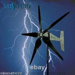24 Volt 2000 Watt Missouri Raptor G5 79 Inch Dia 5 Blade Freedom Wind Turbine