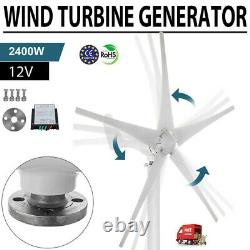 2400W Wind Turbine Generator Unit 5 Blades DC 12V With Power Charge Controller