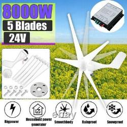 24V Charge Controller 8000W Max Power 5Blades Wind Turbines Generator DC&Charge