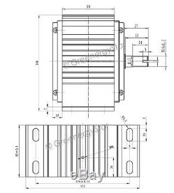 2500 W WindZilla 12 V DC Permanent Magnet Wind Turbine Generator PMA+ Rectifier