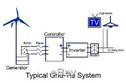 2kW Wind Generator System Grid-Tie Wind Turbine Low Wind Speed