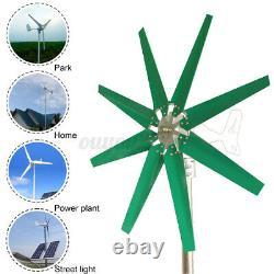 3/5/8 Blades 8000W Wind Turbine Generator Unit+DC 12/24V Power Charge Controller