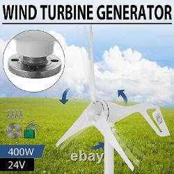 3 Blades 400W Wind Turbine Generator Unit DC 24V W. Power Charge Controller USA