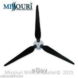 3 Raptor Generation 5 38 Inch Blades and Hub for Wind Turbine Generators