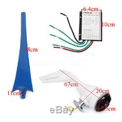 3000W 12/24/48V 3/5 Blades Wind Turbines Generator Horizontal Charge Controller