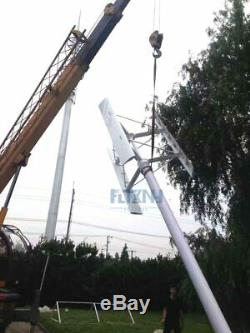 3000w vertical wind turbine 250 RPM generator 96v to 380v grid off grid 3 blades