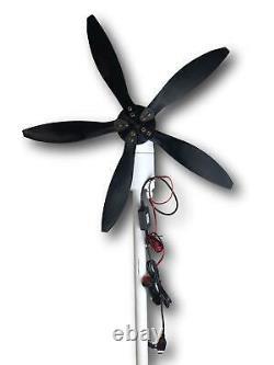 33W 12V and USB Cyclone Swivel Wind Turbine Generator Windmill, Small & Portable