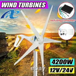 3700/4200W 3/5 Blades Wind Turbine Generator Charge Controller Home Power 12/24V