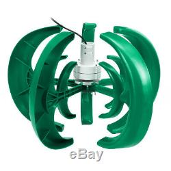 4000W 12V/24V 5 Blades Lantern Wind Turbine Generator Vertical Axis