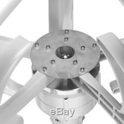 4000W DC24V 5 Blade Wind Turbine Generator Vertical Axis Clean Energy Home Power
