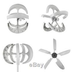 400W 12V White Lanterns Wind Turbine Generator USstock Effective Vertical Axis