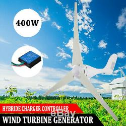 400W Max Power Wind Turbine Generator Kit With Charge Controller DC 12V Windmill