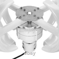 4200W 12V/24V 4 Blades Wind Turbine Generator Vertical Axis Clean Energy White