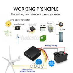 4200W 12V/24V Wind Turbine Genertor Kit Aerogenerator 5 Blades With Controller