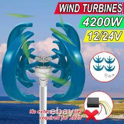 4200W DC12/24V 4 Blades Lantern Wind Turbines Generator Vertical Axis