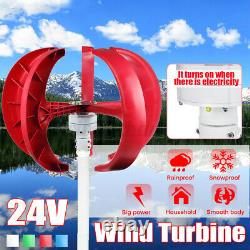 4500W DC 24V 5 Blades Lantern Wind Turbine Generator Vertical Axis Home Power