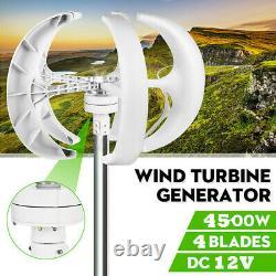 4500W Lantern Wind Turbine Generator Kit 12V Vertical 4 Blades with Controll HOME
