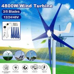 4600/4800W MaxPower 3/5Blade Wind Turbines Generator 12/24/48V+Charge Controller