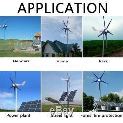 5 Blades 8000W Wind Turbine Generator Unit DC 12V W. Power Charge Controller USA