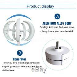 5000W 12V 24V 5 Blade Permanent Magnet Lantern Wind Turbine Generator Controller