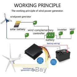 5000W Max Power 5Blades Wind Turbines Generator DC12/24V Charge Controller TOP