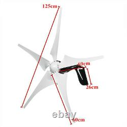 5000W Max Power Wind Turbines Generator 5Blades + DC12V Charge Controller