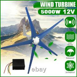 5000W Max Wind Turbine Generator 5 Blades DC 12V Kit With Charger Controller