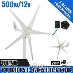 500W 12V Wind Turbine Generator WithController Charge Controller Ac Pmg 3 Phase