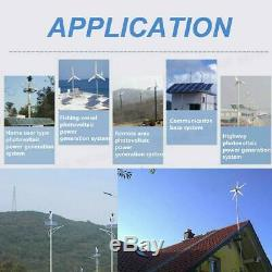 500W 5 Blades 12V Horizontal Wind Turbine Generator Kit With Charge Controller