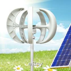 600W 12/24V 5 Blades Lanterns Wind Turbine Generator Vertical Axis Windmill DE