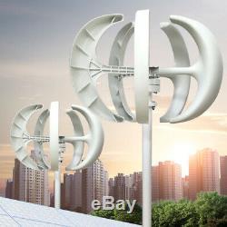 600W 12V24V Lantern 5-Blade VAWT Vertical Axis Wind Turbine Generator Controller